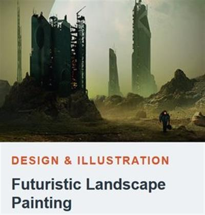 Tutsplus - Futuristic Landscape Paintings