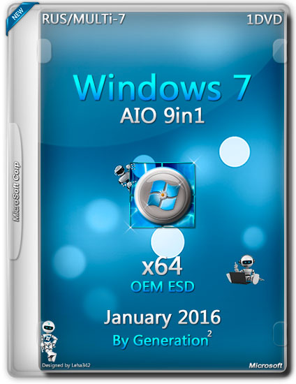 WINDOWS 7 SP1 X64 AIO 9IN1 OEM ESD JANUARY 2016 BY GENERATION2 (RUS/MULTI-7)