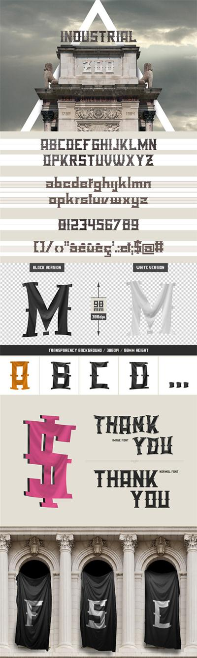 Industrial Zoo - font pack - Creativemarket 2752