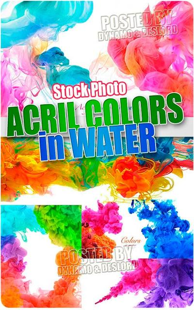Acril colors in water - UHQ Stock Photo