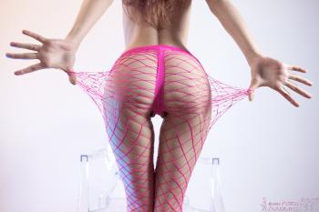 12 - Marlene - Pink Fishnet Hose (90) 4000px