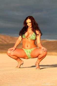 e01-21 Green Paisley Bikini AriaGiovanni.com