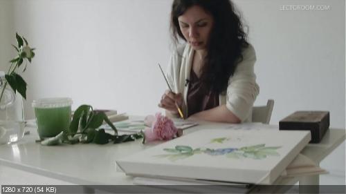 """Акварельная коммерческая иллюстрация """"Цветы"""""""