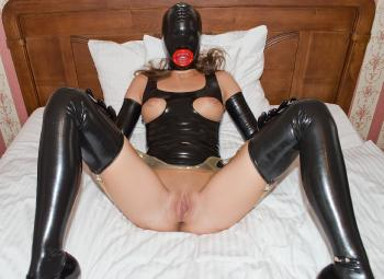 Encased in heavy latex