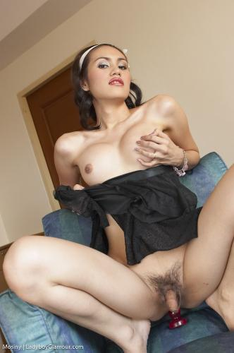 Mosiny - Black Dress Dick Girl
