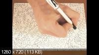 Как научиться рисовать и создавать картины гелевой ручкой? (2013) Обучающий комплект