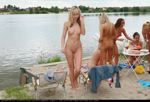 Lakeside Blonde Beauties